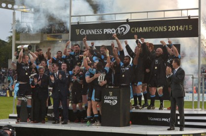 Glasgow Warriors won the Pro12 Rugby league during the 2014-2015 season against Munster
