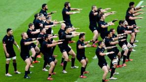 New Zealand performing the Haka at the 2015 World Cup in the Pool stage