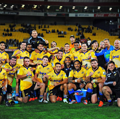 The Hurricanes squad during the 2014-2015 Super Rugby season
