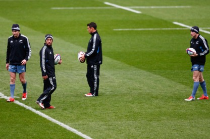 The New Zealand Captain's Run with Beauden Barrett, Aaron Cruden, Dan Carter and Colin Slade