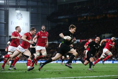 Beauden Barrett scored 26 points against Wales during the third game of the 2016 June Tests, including 2 tries