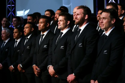 The All Blacks Captain Richie McCaw during the New Zealand squad announcement for the 2015 World Cup