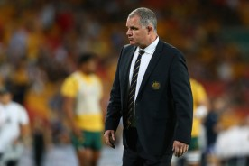 The Australia coach Ewen McKenzie in his last game in charge before announcing his resignation in 2014