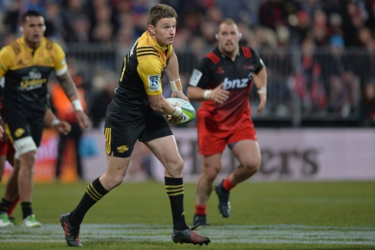 The Hurricanes playmaker Beauden Barrett against the Crusaders in Christchurch in a Super Rugby game in 2016