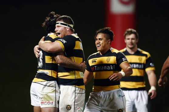 the-taranaki-hooker-mitchell-graham-celebrates-with-sean-wainui-their-win-against-the-counties-manukau-in-the-round-5-of-the-2016-mitre-10-cup