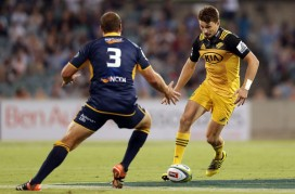 The Hurricanes first-five eighth Beauden Barrett defeated the Brumbies in Canberra during Quarter-Finals in Super Rugby 2017