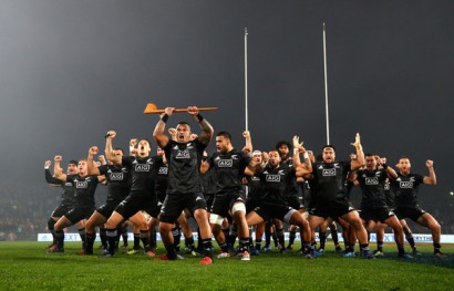 The Maori All Blacks performing their Haka before their game against the British & Irish Lions in Rotorua, in 2017