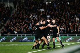 The All Blacks player Beauden Barrett scored the winning try for New Zealand against Australia during the Rugby Championship 2017