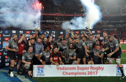 The Crusaders were crowned Super Rugby Champions for the Year 2017 after their final win against the Lions in Johannesburg, South Africa