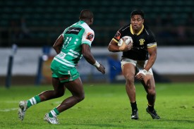 Winger Julian Savea is running the ball for Wellington against Manawatu during the Round 1 of the Mitre 10 Cup 2017 in Palmerston North