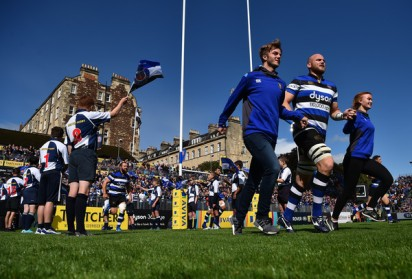 Bath Rugby skipper Matt Garvey is leading the team against the Saracens during Round 2 of the 2017-2018 Aviva Premiership at The Recreation Ground