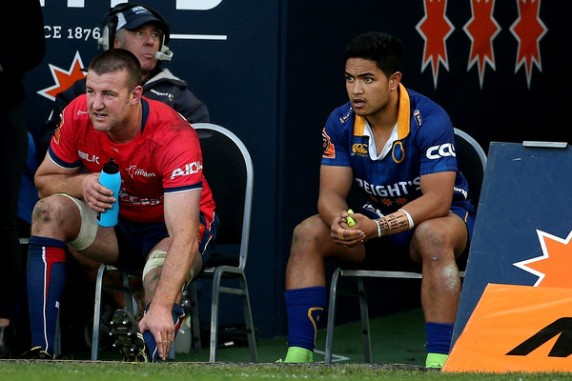 Tasman forward Alex Ainley and Otago back Josh Ioane were yellow-carded during the 2017 Mitre 10 Cup game between these two teams in Dunedin