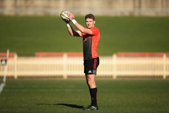 Beauden Barrett during a training session with the New Zealand team during the Rugby Championship 2017