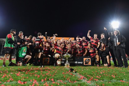 Canterbury secured a third consecutive Mitre 10 Cup when they won the final at home at the AMI Park, in Christchurch, against Tasman in 2017