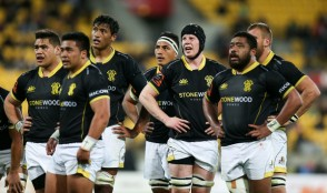 The Wellington players waiting during the Mitre 10 Cup semi-final against Northland in 2017 at Westpac Stadium, Wellington
