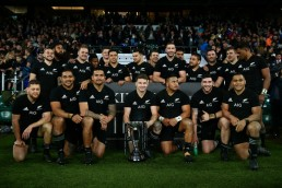 New Zealand won the Killik Cup against the Barbarians in a game played at Twickenham in November 2017 with Beauden Barrett as Captain