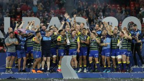 The Cardiff Blues won the 2017-2018 European Challenge Cup against Gloucester in San Mamès, Bilbao, Spain