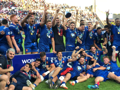 The France U20s side was crowned World Champions after their win against England U20s in Final, in Béziers, France