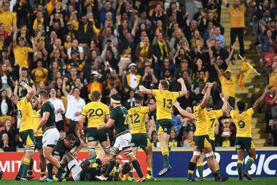 Australia claimed a famous win against South Africa during the 2018 Rugby Championship at Suncorp Stadium, in Brisbane