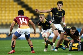 TJ Perenara played for Wellington against Southland at Westpac Stadium during the 2018 Mitre 10 Cup