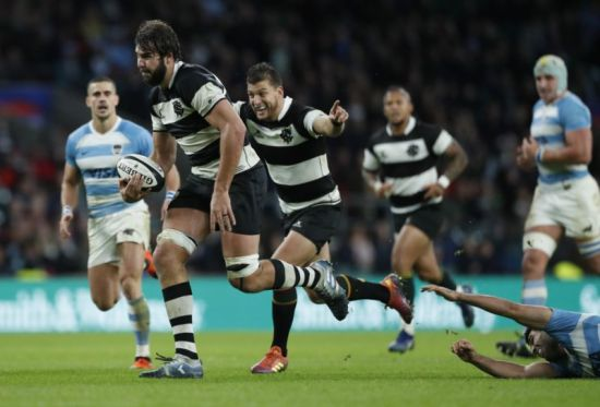 The Springboks second-rower Lood de Jager was named Man Of The Match in the Barbarians win against Argentina during the 2018 November Tour