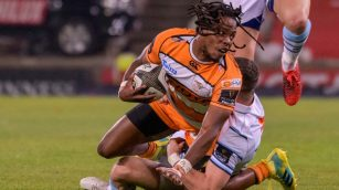 the cheetahs centre rabz maxwane scored a try in the win against the southern kings during the 2018-2019 pro14 season in port elizabeth