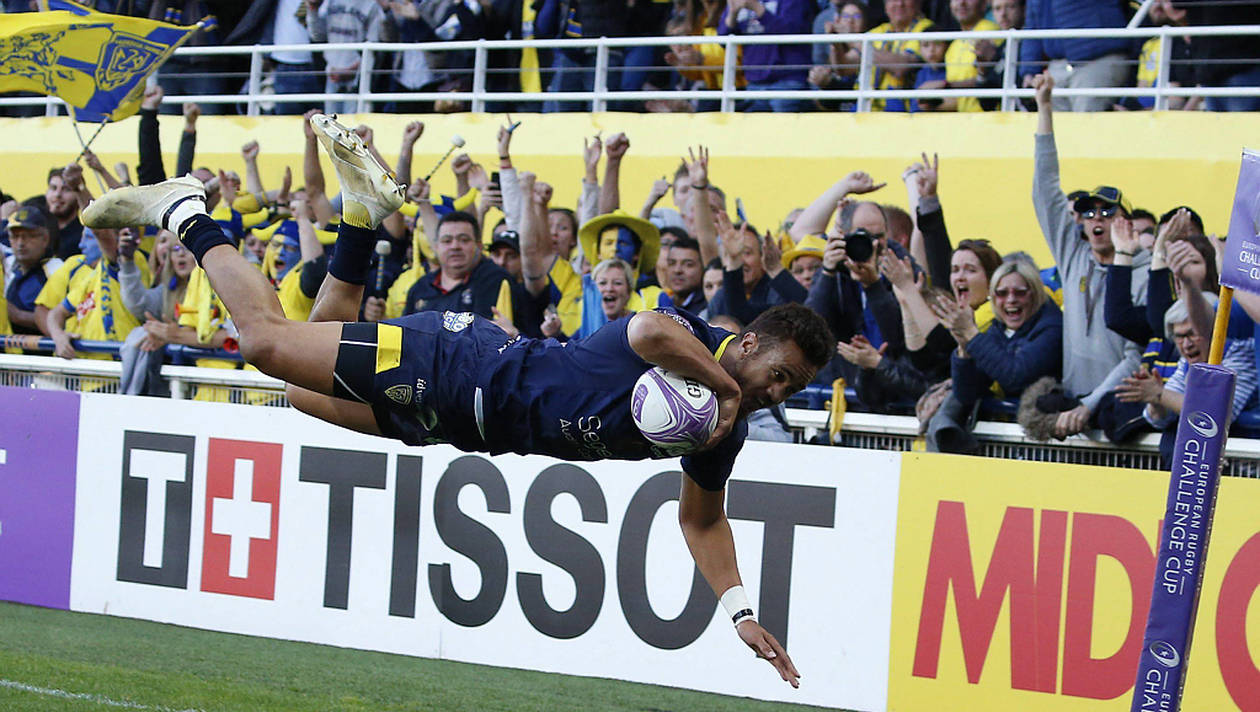 Peter Betham scored a Hat-Trick for Clermont against Northampton during their 2018-2019 Challenge Cup Quarter-Final win in Clermont