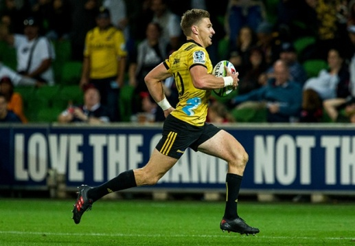 Beauden Barrett led the Hurricanes to an historic away win in Dunedin against the Highlanders during the 2019 Super Rugby
