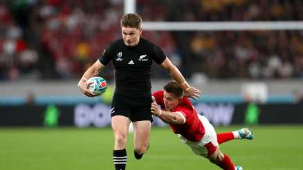 The New Zealand playmaker Beauden Barrett scored his 5th World Cup try against Wales during the 2019 World Cup third place play-offs game
